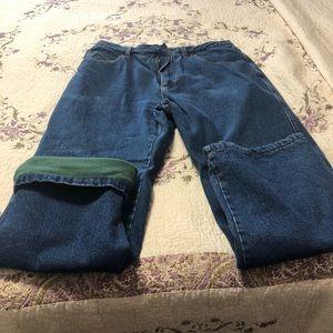 Smith workwear jeans fleece lined.  36 x 30
